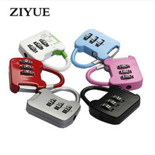 Free Shipping 6pcs/lot Password Pad Lock Mini Travel Luggage Lock Combination Code Number Lock Padlock for Zipper Bag Handbag(China)