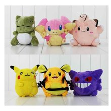 Go plus Dedenne Gengar audino substitute Clefairy plush stuffed toys doll 3pcs/lot(China)