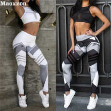 Buy Maoxzon Womens Patterned Print Sexy Slim Fitness Workout Bodycon Pants Fashion Active Jogger Elastic Skinny Leggings Female for $10.97 in AliExpress store