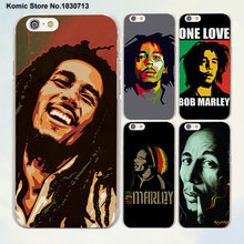 bob marley smoking oil painting design transparent clear Cases Cover for Apple iPhone 6 6s Plus 7 7Plus SE 5 5s 4s 5c