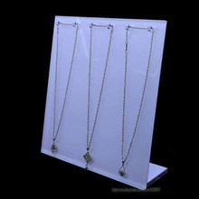 High Quality white 6 Hooks Necklace Display Stand Jewelry Showing Rack Shelf L Necklace Holder Erasel 5mm and 8mm Available