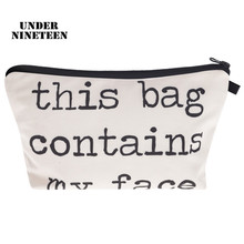 Under Nineteen 2017 Fashion Female Travel Cosmetic Bag Large Capacity Make Up Bag Necessary Toiletry Wash Bath Organizer Pouch(China)