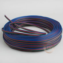 1m 2m 3m 5m 10m 20m 22AWG, 4 pin RGB cable, PVC insulated wire, Electric cable, LED cable, Free to choose the number of meters(China)