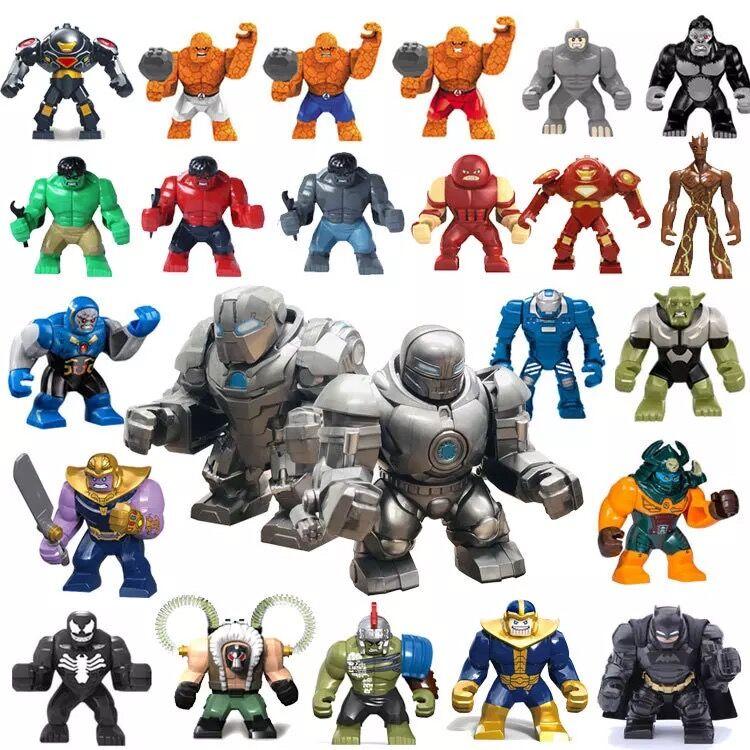 30pcs//lot Marvel Heroes Large Size Hulk Buster Green Goblin Black Venom Fit Lego