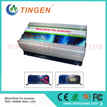 On grid tie wind inverter 3 phase ac input for wind turbine 1500w 1.5kw pure sine wave lcd dump load resistor