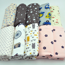 New arrival Stretch knit cotton fabric Printed flower baby knitted jersey cotton fabric for fashion clothing material 50x170cm