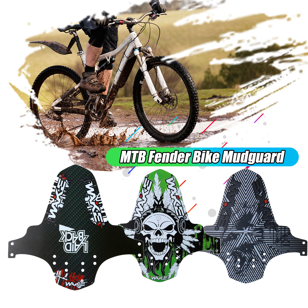 1//2 Set PP Cycling Mountain Bike Front Fender Guards Mudguard With 6 cable ties
