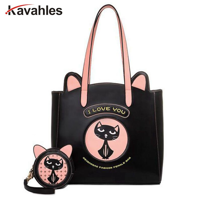 2017Hot Sale Women Cat Bag l Love You Women Messenger Bag Luxury Women Tote Bag Crossbody Handbags Ladies Clutch Bag bolsaPP-410<br>