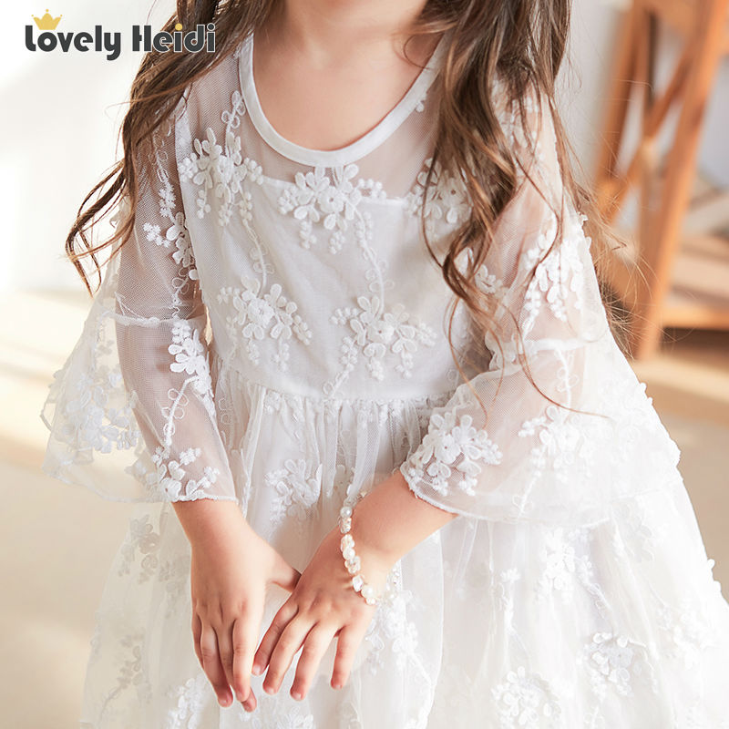 High quality voile lace Girl Dresses Children Dress Party Summer spring Princess Baby Girl Wedding Dress Birthday gift <br><br>Aliexpress
