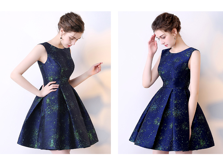 SOCCI Short Bridesmaide Dresses 2017 A-Line Real Photo Girls Homecoming Dress Sleeveless Blue Special Occasion Prom Party Gown 6