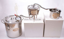 NEW 3 Pots DIY 3 Gal 12 L Home Alcohol Stainless Moonshine Still Water Whiskey Distiller Boiler Keg WIne Brewing Kit(China)