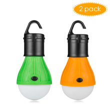 2 pcs Emergency Camping Tent Lamp Outdoor Hanging Tent Light 3 LED Bulb Energy Saving Lanterns Bulb Portable Fishing Lantern(China)