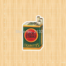Lucky strike cigarettes Notebook skateboard Ipad trolley backpack Tables book decal PVC waterproof sticker Colorful