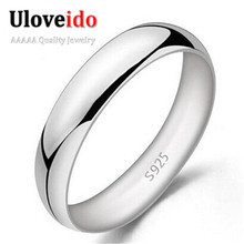 Uloveido Unisex Anillos Bijoux Rings for Women Silver Jewelry Male Ring Anel Sale Wedding Jewellery Punk Alibaba-express J017