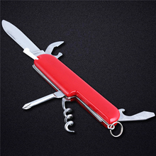 New Mini 5 in 1 Folding Knife Stainless Steel Small Pocket Knife Multi Funtional Knife Outdoor Tool(China)