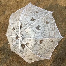 Mini Transparent Umbrella Women Rain Girls Plastic Clear Lace Parasol Parapluie Three-fold Paraguas Colorful 8 Ribs Umbrella(China)