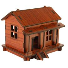 DIY 3D House Wooden Puzzle Toys Adult Children Intelligence Toys Model Building Kits Festival Gifts Krystal