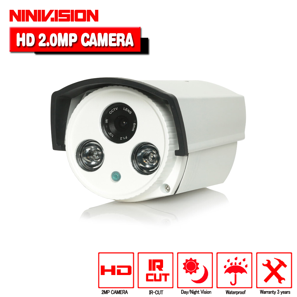 High definition camera 2pcs array ir leds 40m distance 0.001lux metal osd menu sony imx322 + ahd 1080p 2.0mp waterproof camera<br>