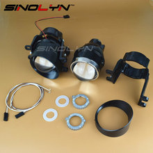 SINOLYN Bifocal Projector Lens Fog Lamp Driving Light Super Bright L04 with HID Bulb D2H Waterproof Special Used for Toyota Cars(China)