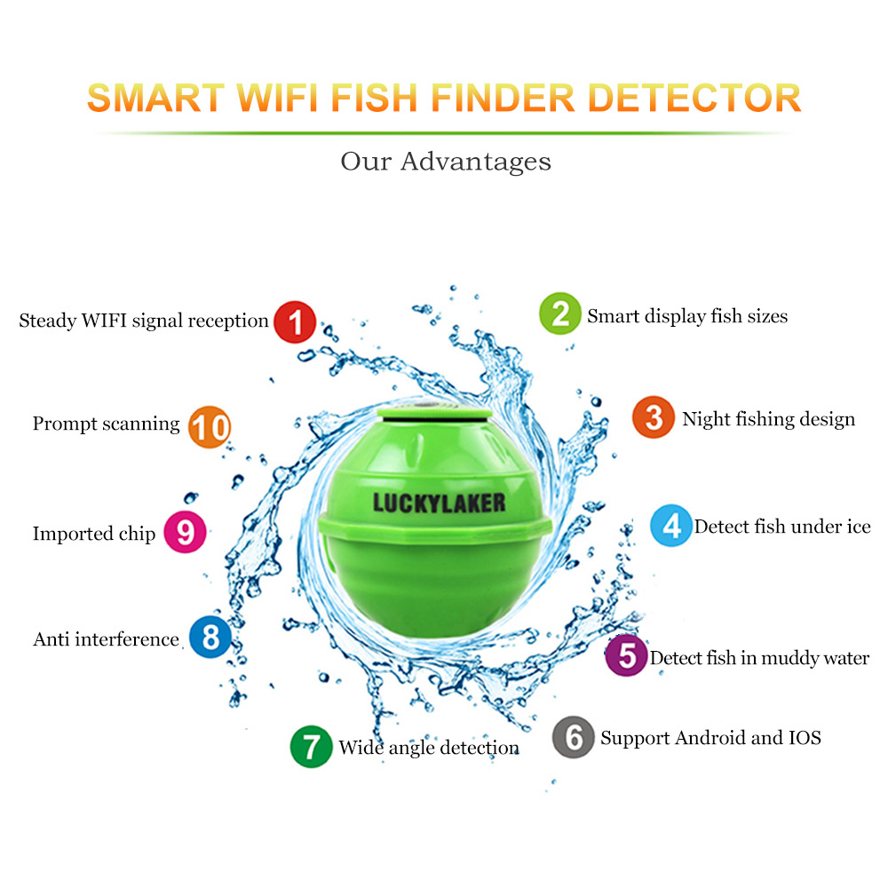 Wifi Fishfinder echo sonar sounders locating fish sound underwater camera for fishing findfish deeper wireless echo sounder (4)