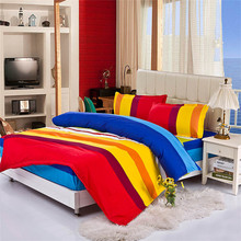 Free shipping, colorful, rainbow colors Mattress Cover style bedding sets duvet cover bed sheet bedspread linen warm comfortable