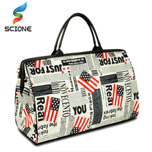 2017 Hot Waterproof Women Print Large Capacity Luggage Duffle Bags Sport Bag Popular Style Canvns Women Bag Gym Travel Handbag(China)