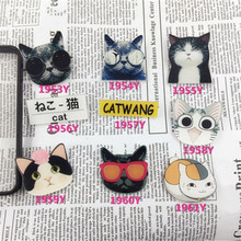 (MIN MIX ORDER $5)Acrylic Badge Broche HARAJUKU Brooch cat Accessory for Scarf Pin Up Women Bag Collar Tips Punk Jewel XZ23