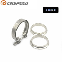 CNSPEED Universal Upgraded 3 inch Auto Parts V-band clamp kit for Turbo, Exhaust pipes Turbo Downpipe Exhaust Clamp V band(China)