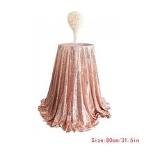 Sparkle Table Cloth Round Bling Sequin Tablecloth Wedding Event Party Home Decor(China)