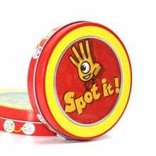 Newest spot it board game quality paper with metal box best gift for your friend cards game(China)