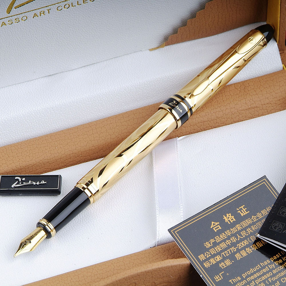 Pimio 901 Paris Exotica Luxury Gold Iridium Fountain Pen with 0.5mm Nib Metal Ink Pens Writing Office Gift Free Shipping<br><br>Aliexpress