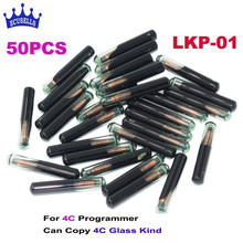 50 PCS/LOT, 2017 New LKP-01 Car Key Blank Chip for 4C Programmer Can Program/Copy 4C Glass kind(China)