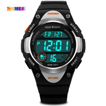 Children Watch Outdoor Sports Kids Boy Girls LED Digital Alarm Stopwatch Waterproof Wristwatch Children's Dress Watches 2017 New