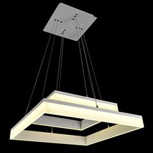 free shipping SMD LED square pendant lamp creative LED crystal lamps pendant lights(China)