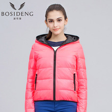 BOSIDENG women's clohting winter down coat winter down jacket hooded light outwear young simple style clearance sale B1301064