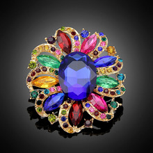 Bright Coloured Flower Brooches for Women Brooch Pins Jewelry Wedding Decoration