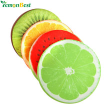 3D Simulation Fruit Cushion 32*5CM Round Pillow Chair Seat Sofa Meditation Floor Cushions For Home Decoration Christmas Gift(China)