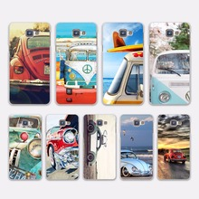 Retro summer volkswagen bus beach art design hard White Case Cover for Samsung Galaxy A5 2016 A5 A7 2017 A8 A9 A3 2016
