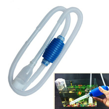 Useful Aquarium Siphon Gravel Cleaner Clean Simple Fish Tank Vacuum Water Change Pump Cleaning Tools(China)