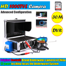 2017 New Arrival New Aaa Fish Finder Kit Mini Hd 1000tvl Lcd Fishing Camera Portable Night For Vision With Dvr 30m Cable(China)