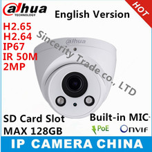 Dahua IPC-HDW5231R-Z H2.65 IP Camera 2.8mm ~12mm varifocal motorized lens 2MP WDR IR50M with sd Card slot POE built-in MIC