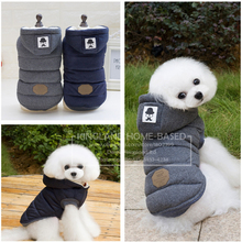Mustache Hooded Style Pet Dog Thick Winter Coat  Clothes From S to XXL  Dog Coat Dogs Clothes CWYP205