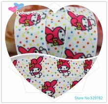 "Dobro 10 Y New 7/8""22mm Colorful Dots My Melody Printed Grosgrain Ribbon Wholesale for Hair Bows/Sewing Supplies(China)"