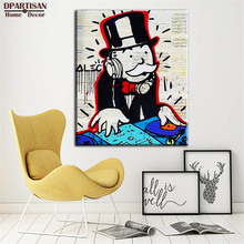 New Fashion DJ Alec monopoly Graffiti arts print canvas for wall art decoration oil painting wall painting picture No framed M35