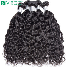 Human Hair Weave Bundles Malaysian Water Wave Hair 1 Pc Virgo Hair Company 100% Natural Remy Hair Can Be Dyed Won't Lose Pattern(China)