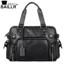 BAILLR Handbag Luxury PU Leather Man Bags Vintage Business Large handle Bag Fashion For Men Shoulder Men's Casual Big Tote Bags