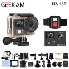 GEEKAM H3/H3R Action Camera 4K Wifi Ultra HD 170D Go 30M Waterproof Mini Cam Pro Double Screen Swim Sports Camera Hero 4 style(China)