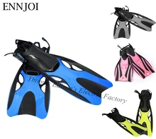 ENNJOI Scuba Diving Fins Adult Children Adjustable Swimming Shoes Diving Fins Long Submersible Snorkeling Foot Diving Flippers(China)