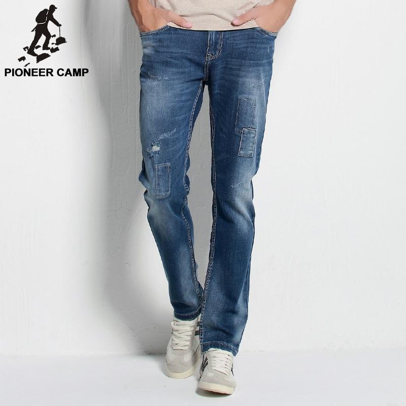 Pioneer Camp.Free shipping!2017 autumn new arrival mens jeans fashion casual mens pants breathable cotton elastic jeans for menÎäåæäà è àêñåññóàðû<br><br>