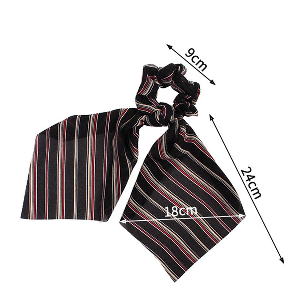 Boho Print Elastic Ponytail Scarf Bow Hair Rope Tie Scrunchies Ribbon Hair Bands